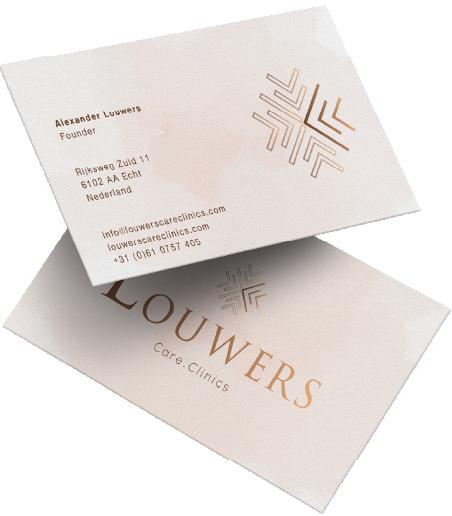 Visitekaartjes design Louwers Care Clinics