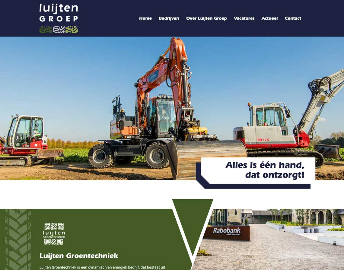 Maatwerk Website Brunssum Luijten Groep