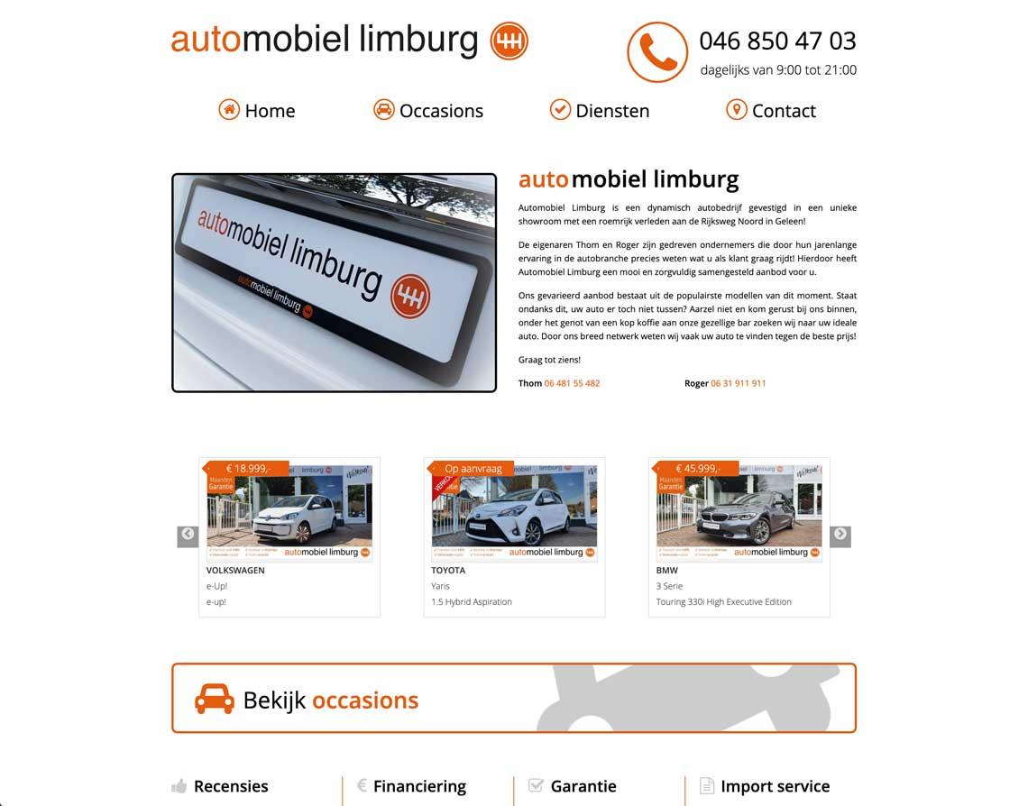 Maatwerk Website Geleen Automobiel Limburg