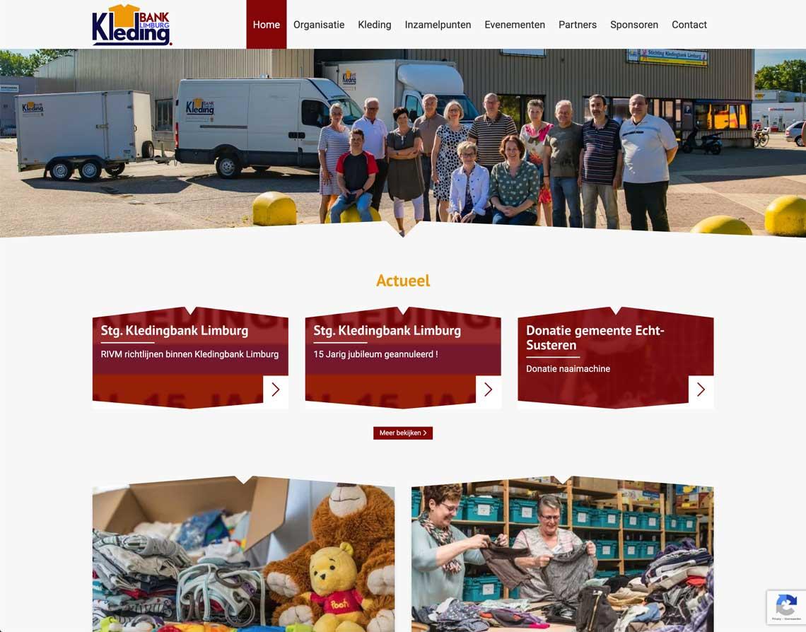 Maatwerk Website Roermond Kledingbank Limburg