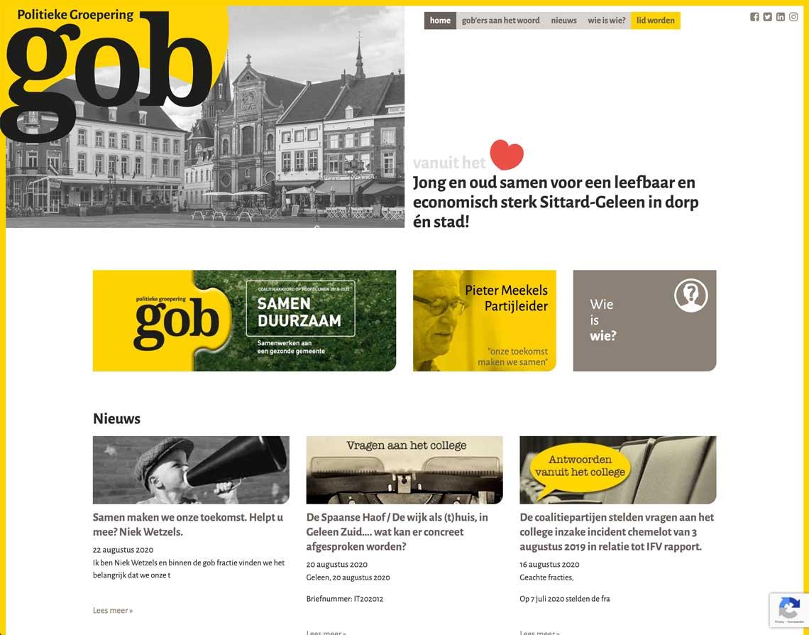 Maatwerk Website Sittard GOB