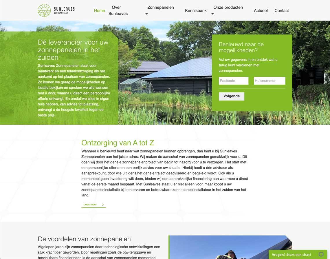 Maatwerk Website Sittard Sunleaves