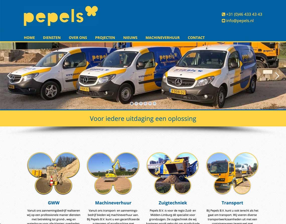 Maatwerk website Urmond Pepels