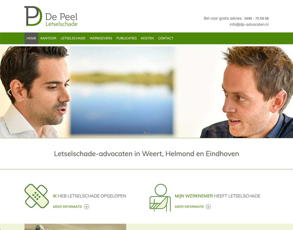 Maatwerk website Weert DP Advocaten