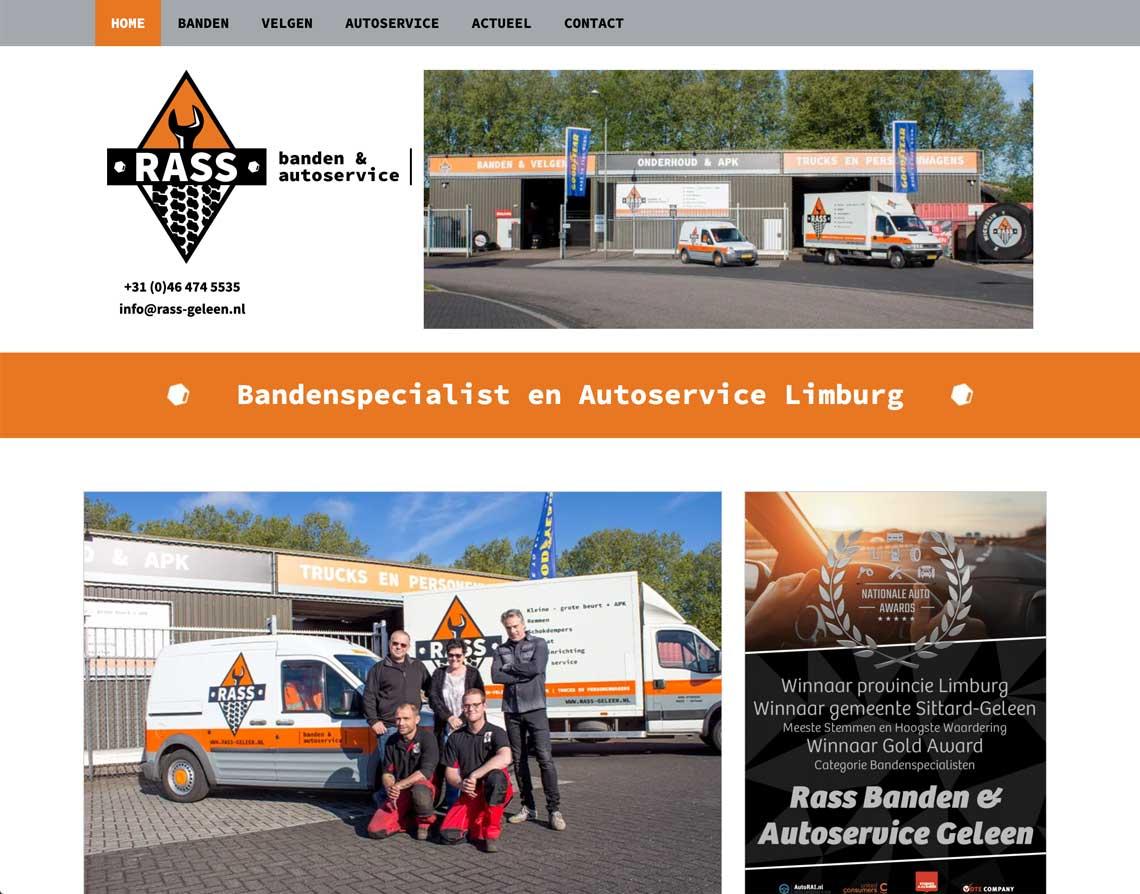 webdesign bureau Geleen Rass Banden & Autoservice