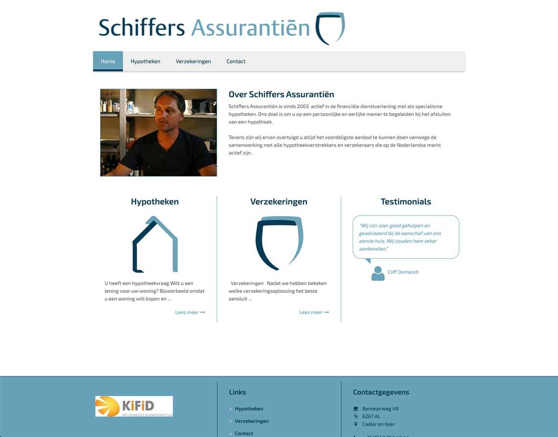 webdesign bureau Maastricht Schiffers Assurantiën