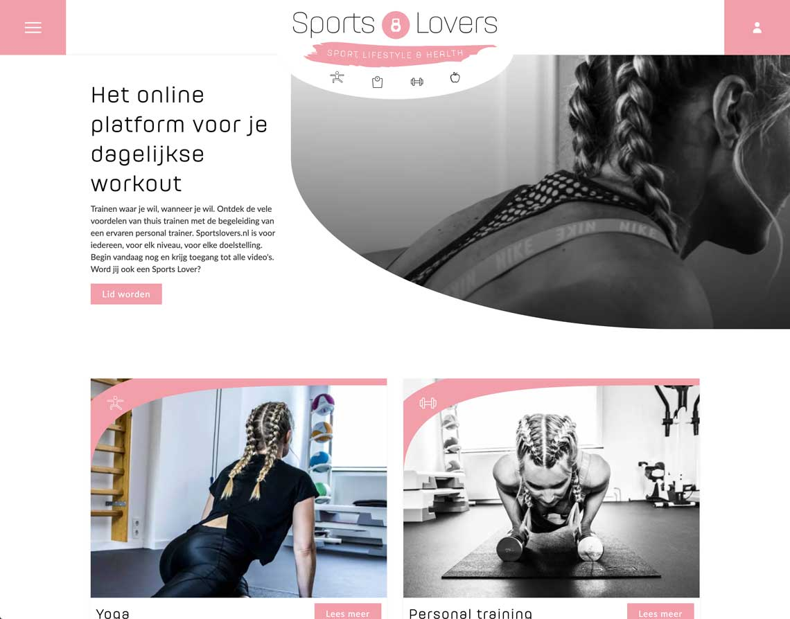 webdesign bureau Maastricht Sports Lovers