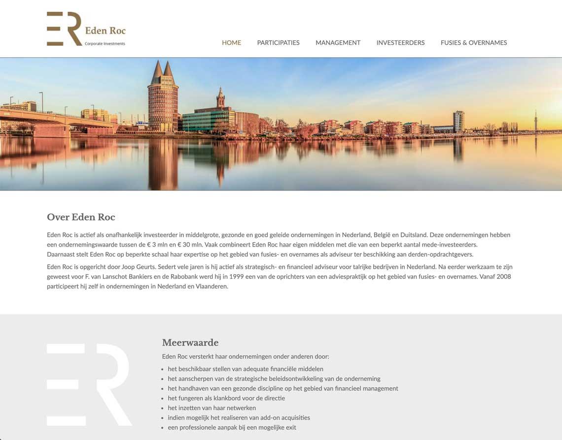 webdesign bureau Roermond Eden Roc