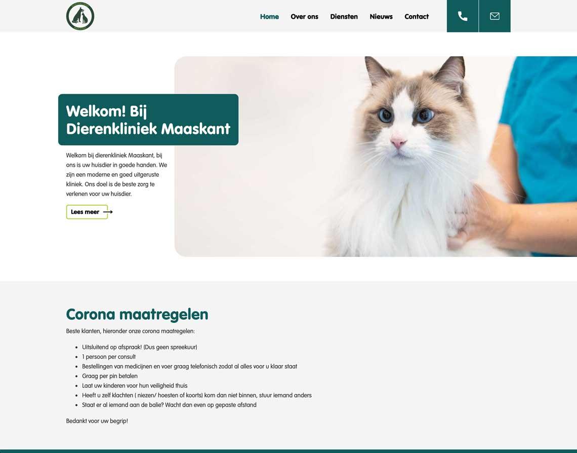 webdesign bureau Urmond Dierenkliniek Maaskant