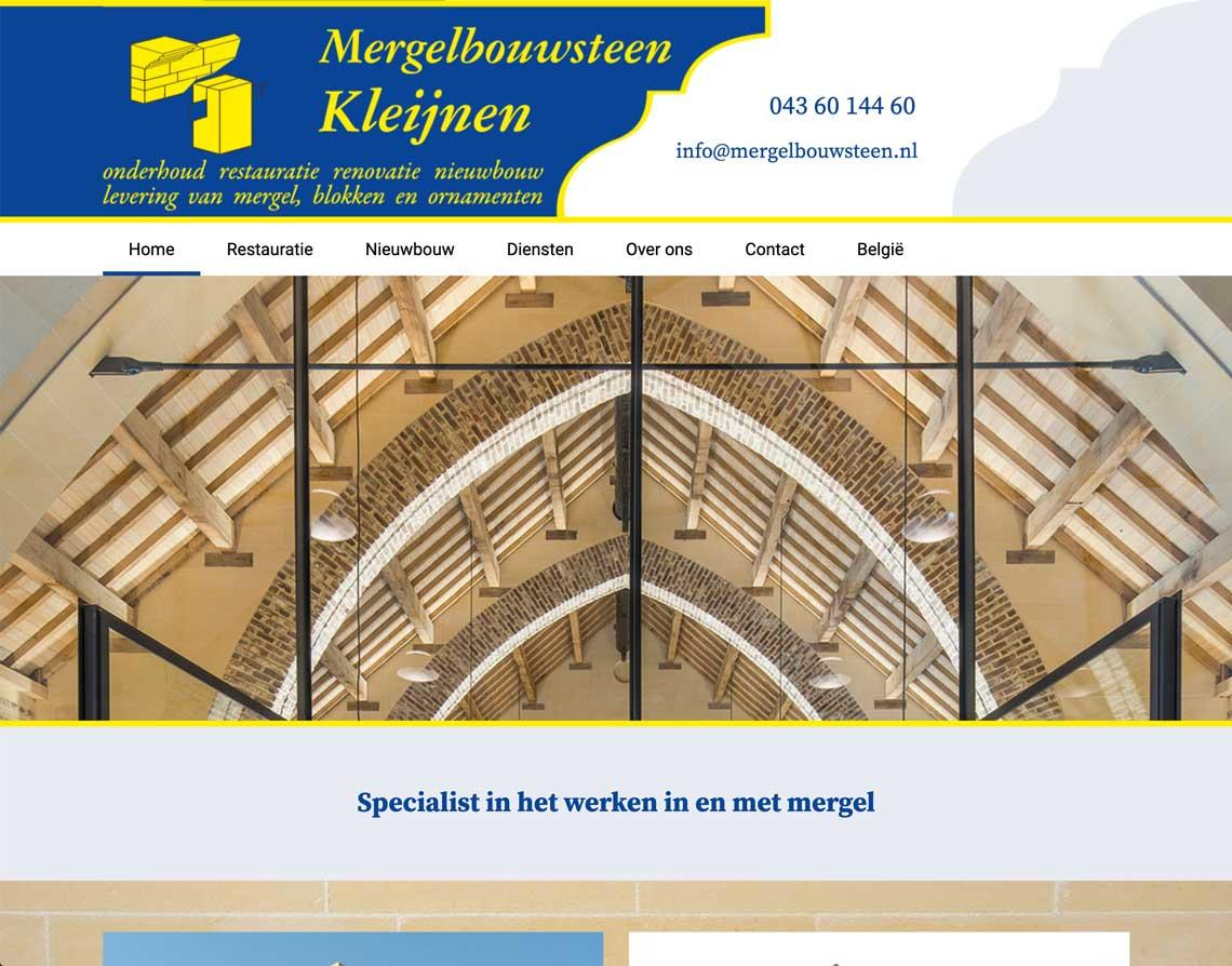webdesign bureau Valkenburg Mergelbouwsteen Kleijnen