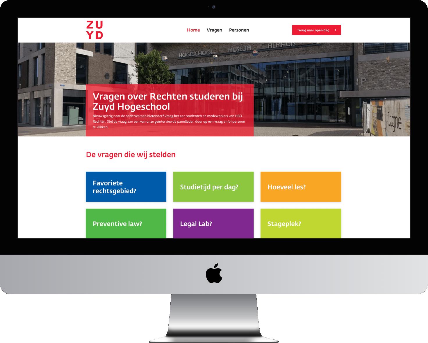 Maatwerk Webdevelopment voor Zuyd