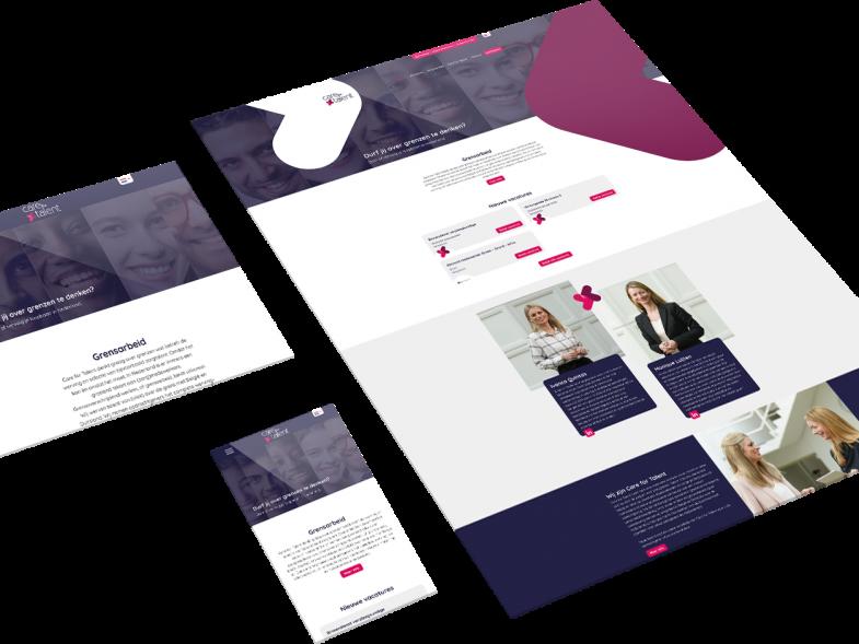 Maatwerk Responsive Website voor Care for Talent