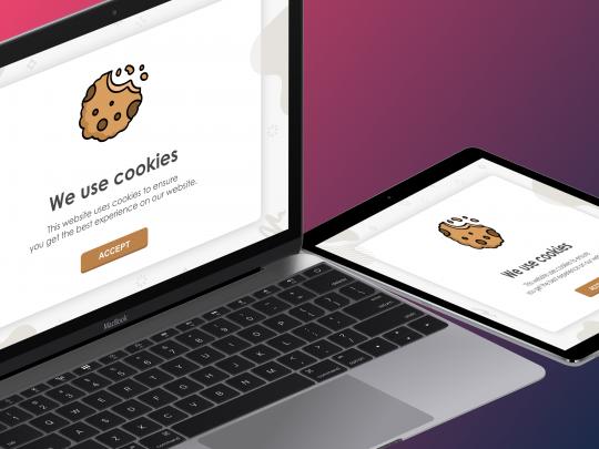 Cookies op een website door webmix