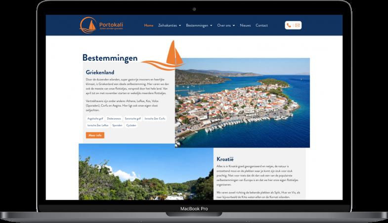 Webdesign Portokali macbook