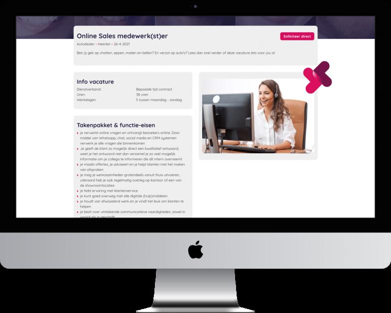 Maatwerk website voor vacatures