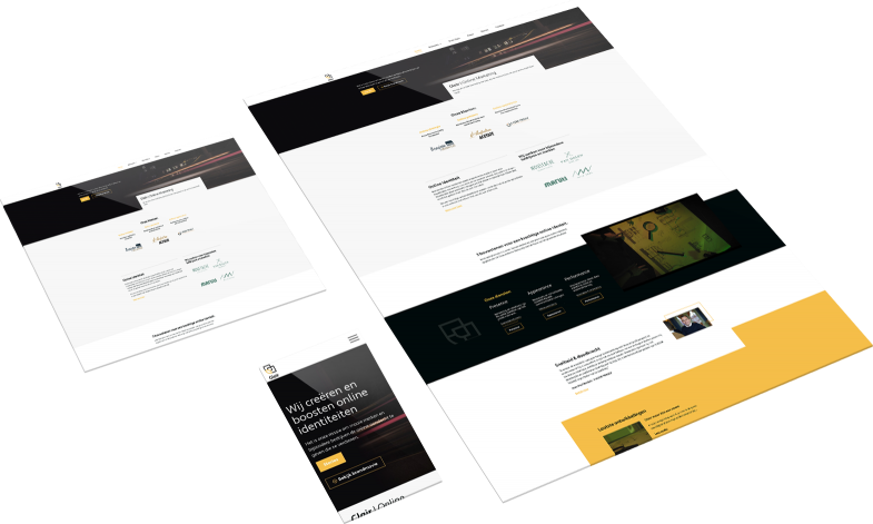 design mockup glair webdesign